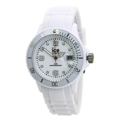 - Ice SIWEUS09 Unisex Ice-Forever White Dial White Rubber Strap Watch