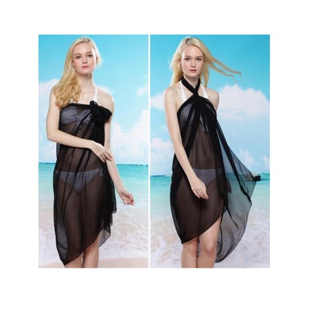 f963891adc SAYFUT - SAYFUT Women Juniors Sarong Swimsuit Cover up Pareo Bikini Cover  ups Beach Wrap Dress - Walmart.com