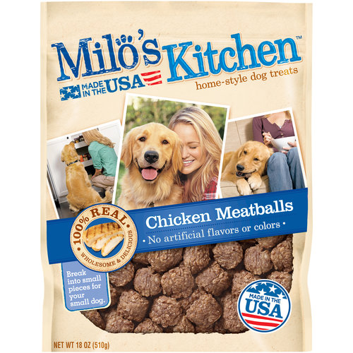 Milo's Kitchen Chicken Meatballs Dog Treats, 18-Ounce