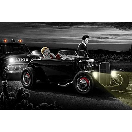Joy Ride by Helen Flint 36x24 Elvis Presley Marilyn Monroe Art Print Poster -