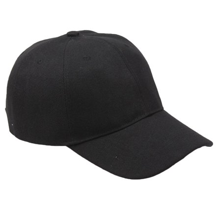 e81ad7690 Unisex Solid Casual Blank Plain Snapback Hats Hip-Hop Adjustable Bboy  Baseball Cap for Men Women (Black)