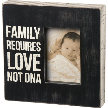 Primitives Kathy Box Sign Frame Family Requires Love Not Dna