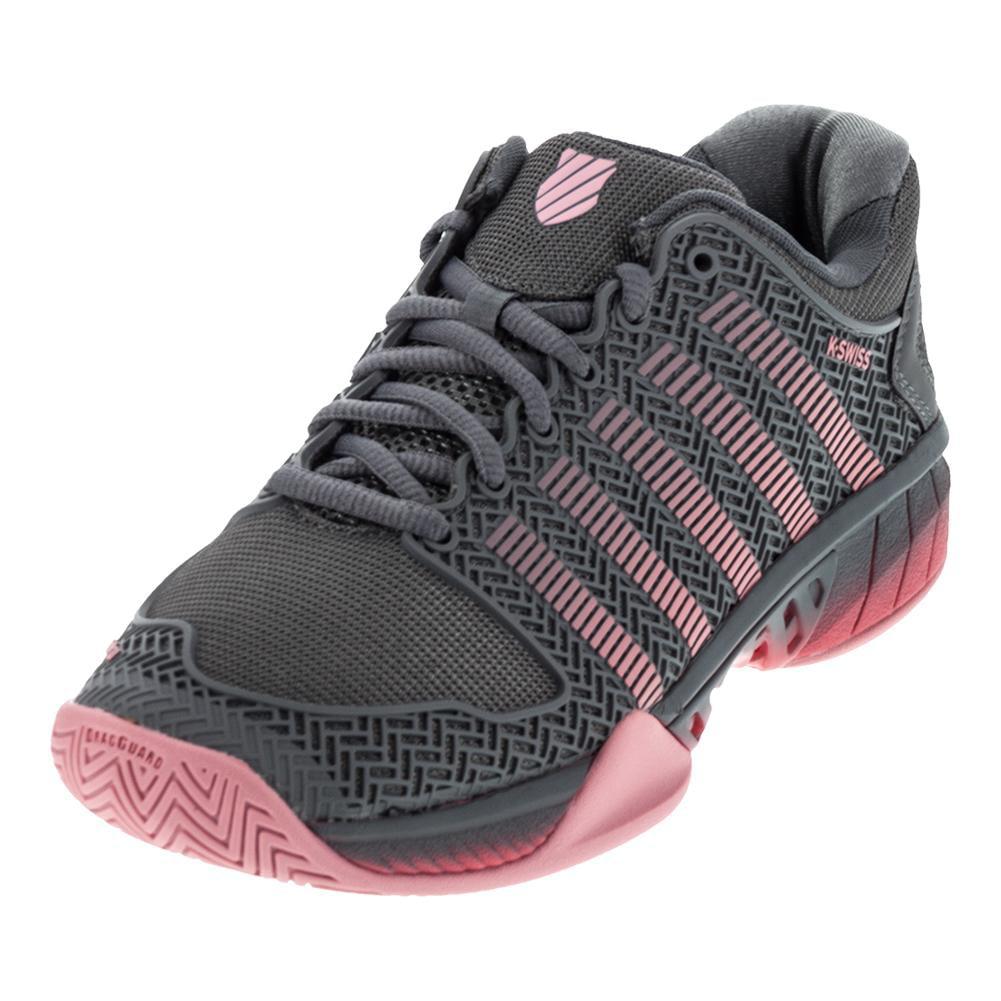 K Swiss Women S Hypercourt Express Tennis Shoes Steel Gray And