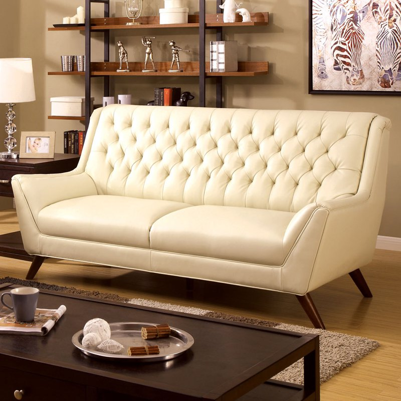Furniture of America Stansbury Button Tufted Sofa