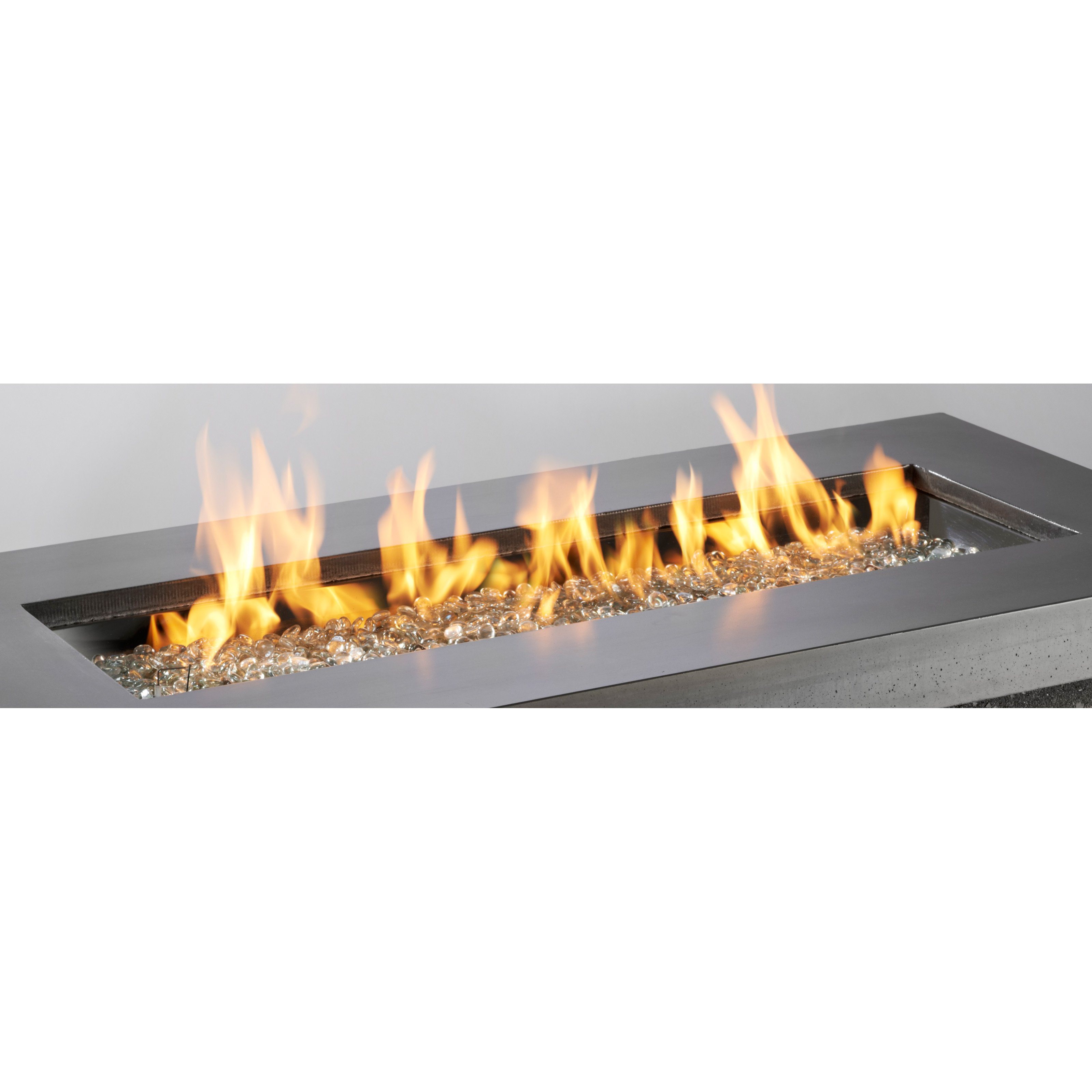 Outdoor GreatRoom 12 x 42 Burner with Glass Fire Gems