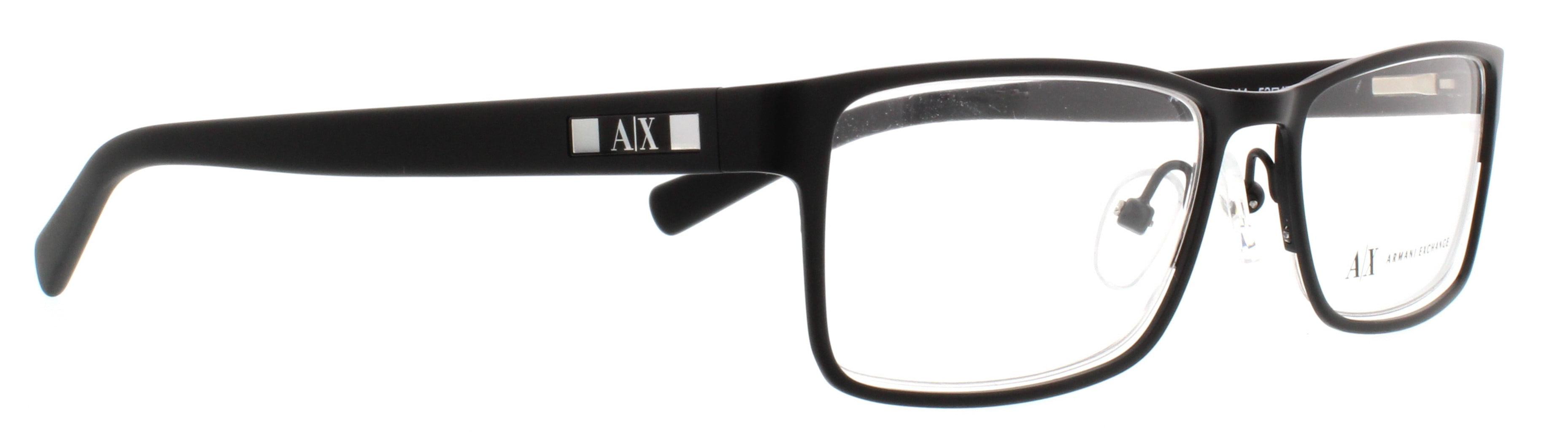 6beb2cf07bb6 ARMANI EXCHANGE Eyeglasses AX 1003 6014 Satin Black 52MM - Walmart.com