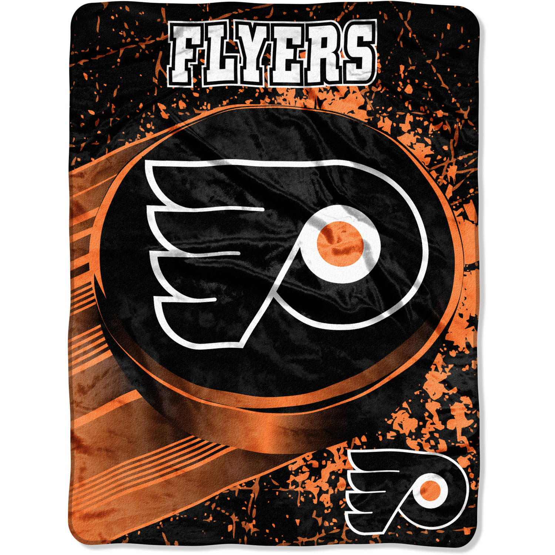 "NHL Philadelphia Flyers ""Ice Dash"" 46"" x 60"" Micro Raschel Throw"
