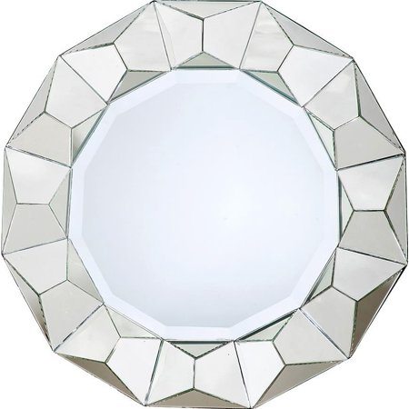 Wall Mirror Dovetail Pyramid Round Distressed Paint Reclaimed (Best Way To Distress Painted Furniture)