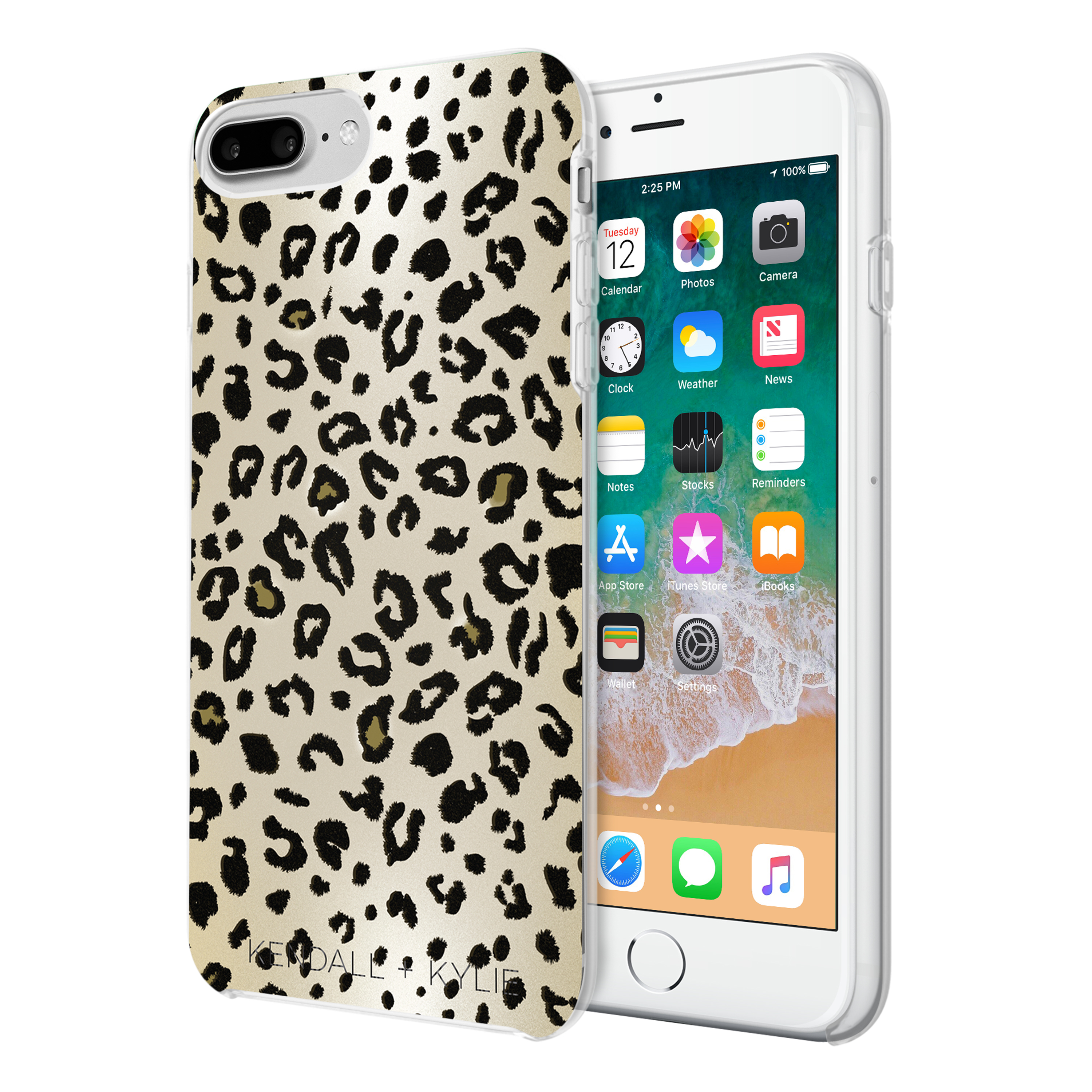 KENDALL + KYLIE Protective Printed Case for iPhone 8 Plus, iPhone 7 Plus, iPhone 6 Plus & iPhone 6s Plus – Leopard