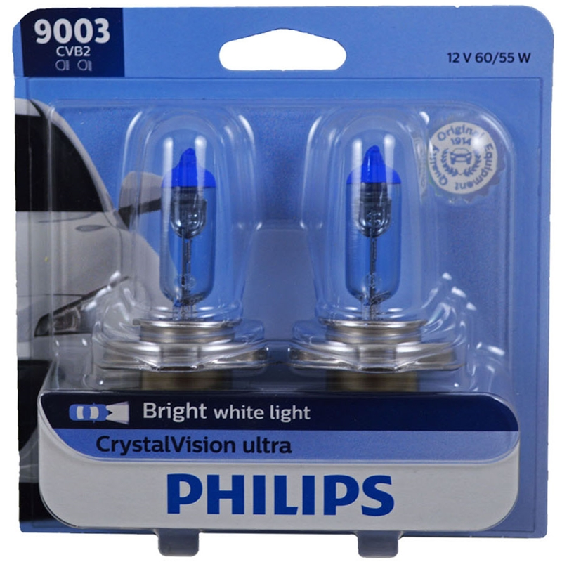 Philips 9003 HB2 60/55W Crystal Vision Ultra Halogen HID Look Headlight (Pair)