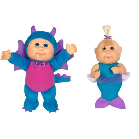 Cabbage Patch Cuties Dolls Bundle #1 Sparky Dragon & Jewel Mermaid- 2 for 1 Deal