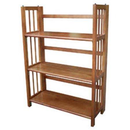 Oak Three Tier (Ltd  3 Tier Folding Bookcase  Honey Oak)