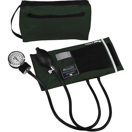 MABIS MatchMates Aneroids Sphygmomanometers Kit, Hunter Green