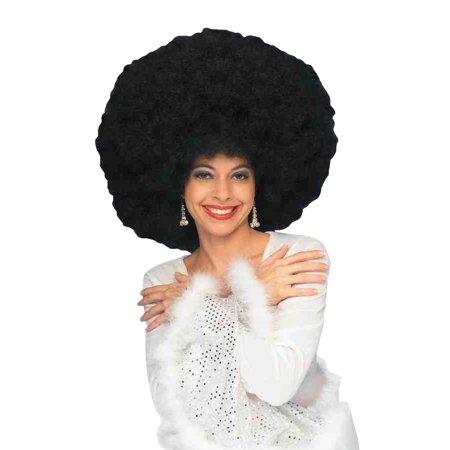 Silver Afro Wig (Black Deluxe 70's Afro Wig)