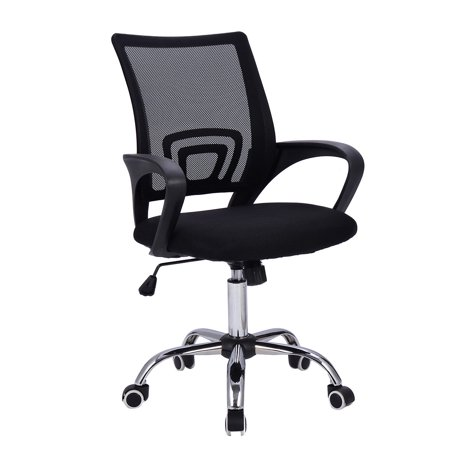 costway modern mesh mid back office chair computer desk