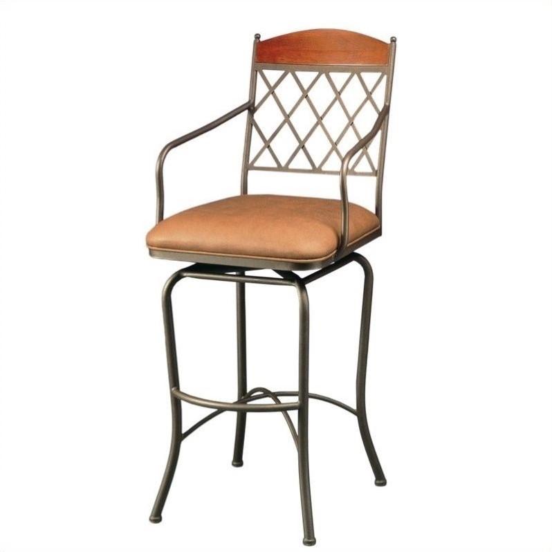 "Pastel Furniture Napa Ridge 30"" Swivel Arm Bar Stool in S..."