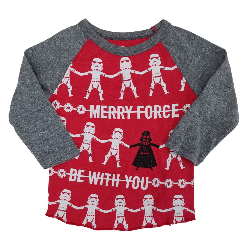 Star Wars Baby-Boys Long Sleeves T Shirt Grey