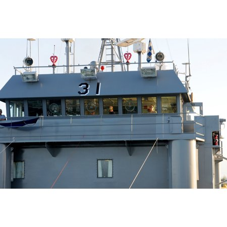 LAMINATED POSTER Crewmembers, of the U.S. Army Landing Craft Utility-New Orleans, 824th Transportation Company (Heavy Poster Print 24 x 36