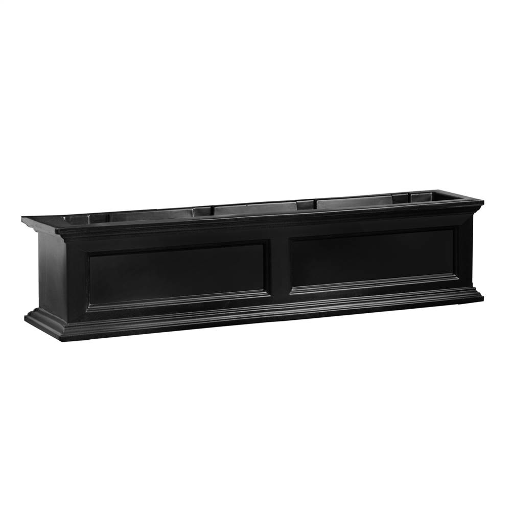 Fairfield 4 Ft Double Wall Window Planter Box in Black Finish by MAYNE