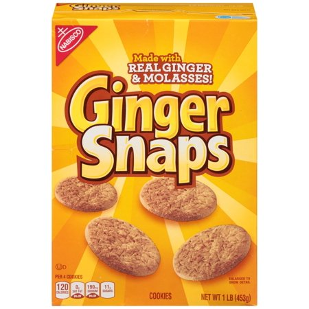 (2 Pack) Nabisco Ginger Snaps Cookies, 16 Oz