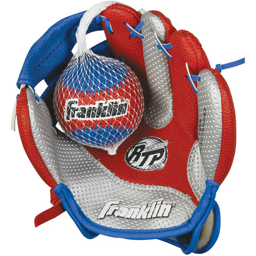 "Franklin Sports Air Tech 9"" Baseball Glove with Ball, Right-Handed Thrower"