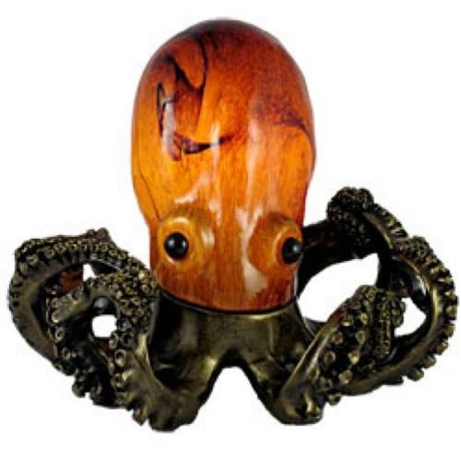 Standard Specialty 1317 Pretty Amber Glass Octopus Table Lamp