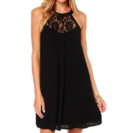 Vanberfia Rich Womens Small Lace Inset Sheath Dress S ()