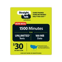 Straight Talk $30 All You need 30-Day Plan (Email Delivery)