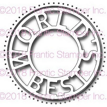Frantic Stamper - Dies - World's Best Circle & (Best Supplements For Cutting Cycle)