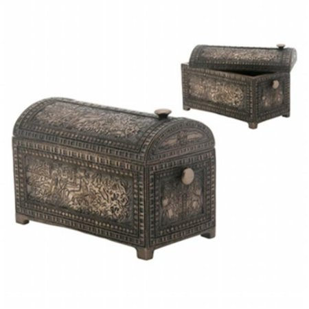 YTC Summit 8271 BRONZE PHAROAH TRINKET BOX, C-12