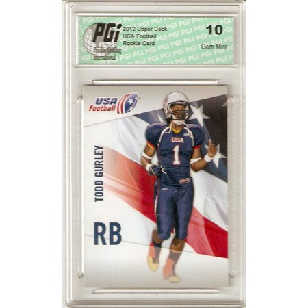 Todd Gurley 2012 Upper Deck Usa Football #47 Very 1st Rookie Card PGI 10