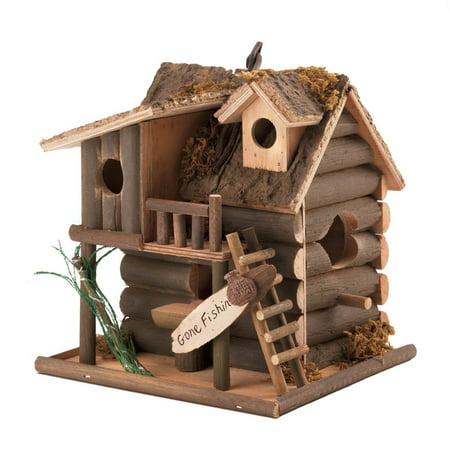 Bird Wash House - Modern Birdhouse, Cute Wooden Hanging Outdoor Bird House