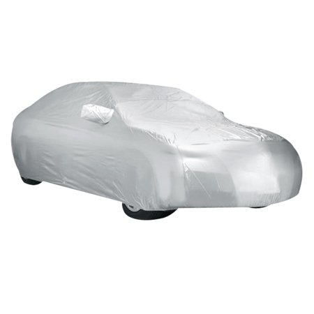Dustproof Waterproof Breathable Silver White Car Cover Durable For Honda Civic