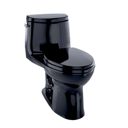 - TOTO® UltraMax® II One-Piece Elongated 1.28 GPF Universal Height Toilet, Ebony Black - MS604114CEF#51