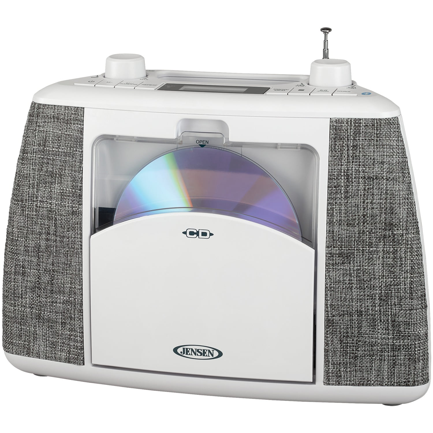 JENSEN Portable Bluetooth CD Music System - White (CD-565)