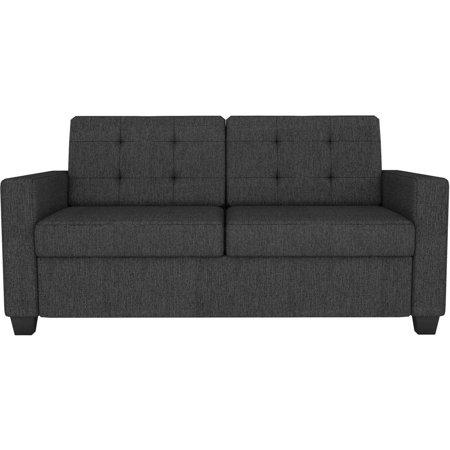 Signature Sleep Devon Grey Linen Sleeper Sofa With Certipur Us Certified Memory Foam Multiple Bed Sizes