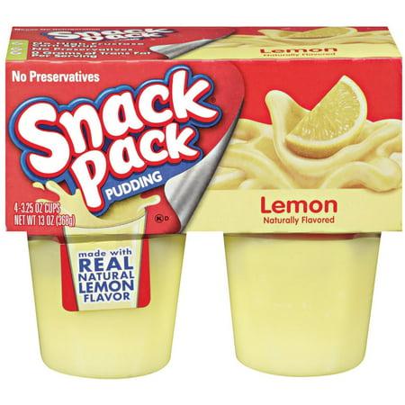 Snack Pack Lemon 4 Ct Pudding 13 Oz Sleeve