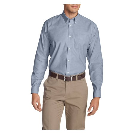 Eddie Bauer Men's Wrinkle-Free Relaxed Fit Oxford Cloth Shirt -
