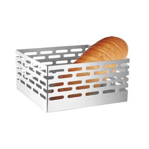 Stainless Steel Oval Basket (New Stainless Steel square basket with Matte texture and Oval Cut)