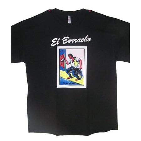 (EL BORRACHO Lottery T-Shirts  Loteria T-Shirts Mexican T-Shirts US Screen Printed  - XLarge Gifts  (MXTS321-XL))