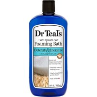 Dr Teal's Pure Epsom Salt Detoxify & Energize Foaming Bath with Ginger & Clay, 34 oz.