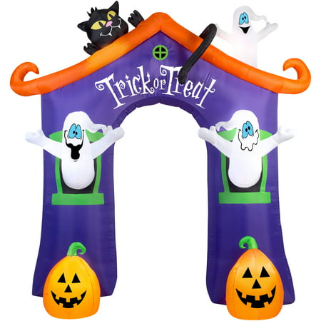 Gemmy Airblown Inflatable 9' X 8.5' Archway Ghost House Halloween - Halloween Inflatable Archway