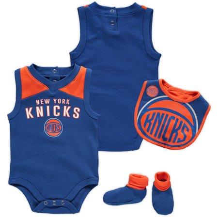 27a237db17d New York Knicks Newborn Overtime Bodysuit, Bib & Booties Set - Blue ...