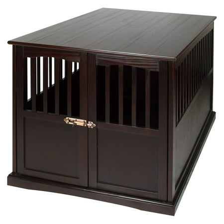 wooden extra large pet crate espresso end table. Black Bedroom Furniture Sets. Home Design Ideas