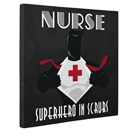 Nurse's Week - Nurse Appreciation Gift - Nurse Superhero CANVAS Wall Art - Graduation Gift for Nurse