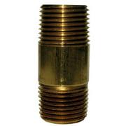 JMF 47023 0.5 x 5.5 in. Red Brass Nipple Pipe- pack of 5