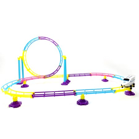 Trans Roller - High Speed Roller Coaster Bullet Train Toy Building Set (77 Pcs)