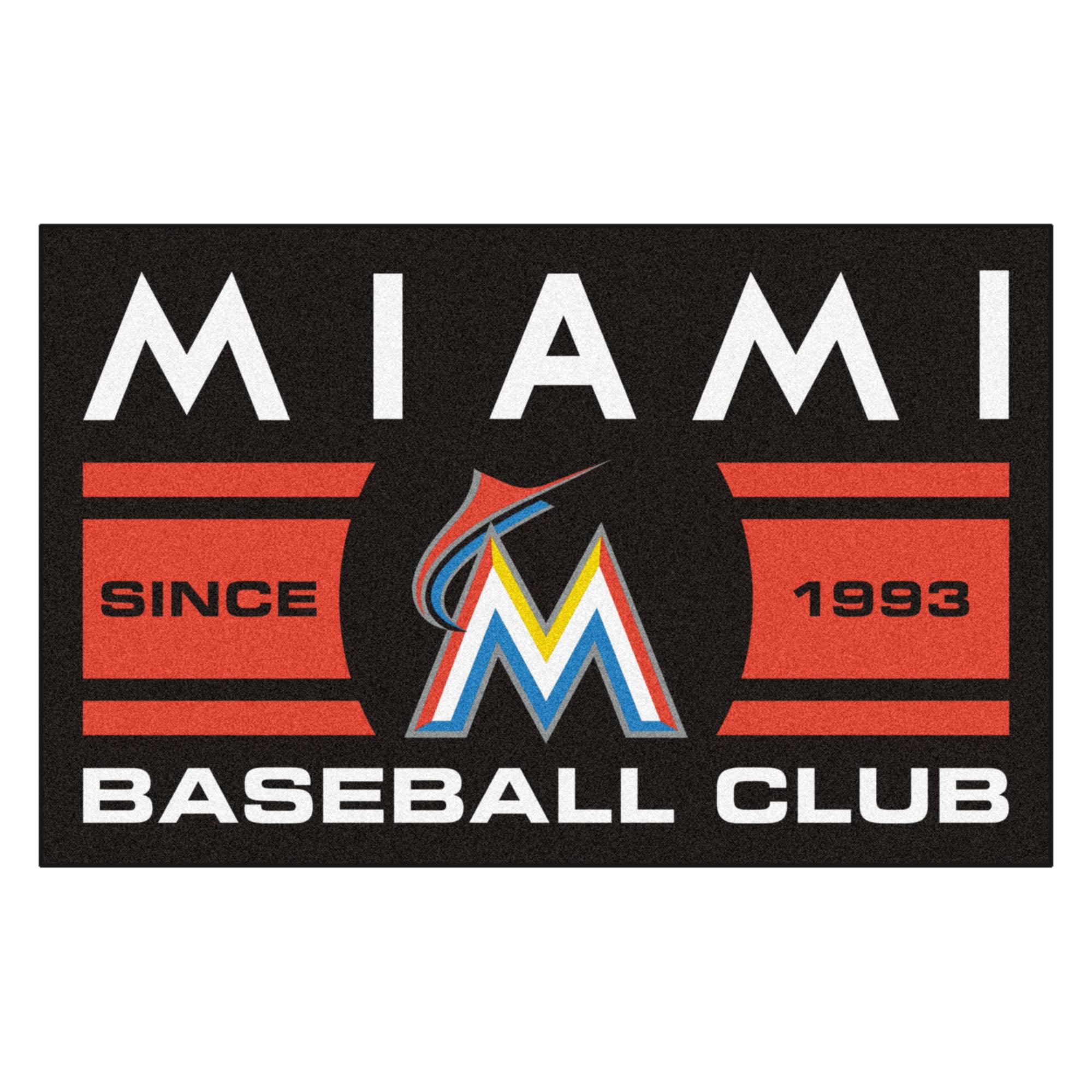 "Florida Marlins Baseball Club Starter Rug 19""x30"""