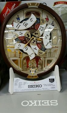 Seiko 24 Melodies in Motion Musical Wall Clock With Swarovski
