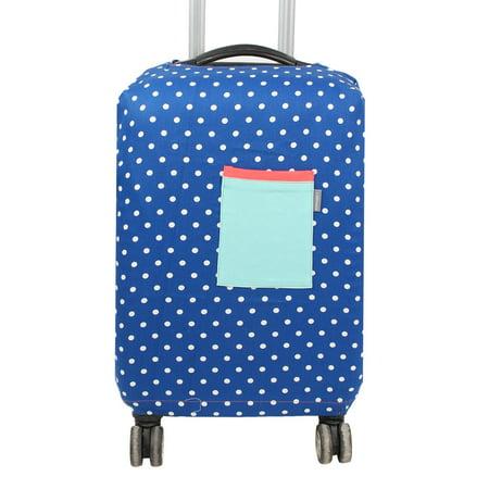 SAFEBET bagages autorisés Motif Dots tissu couvercle anti-rayures Bleu foncé - image 7 de 7